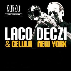 Koncert Laco Deczi & Celula New York 7.6.2019 o 20:00 hod. Vstupné 25 eur. Lístky je možné si rezervovať telefonicky alebo mailom na www.korzorestaurant.sk